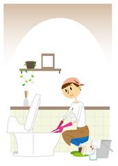 トイレ掃除 女性