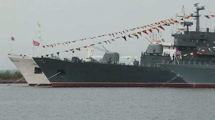Warships at anchorage