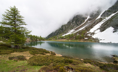 Valle d'Aosta lago d'Arpy