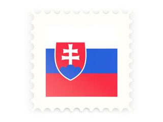Postage stamp icon of slovakia