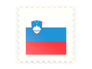 Postage stamp icon of slovenia