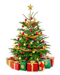 Perfekter Weihnachtsbaum mit Geschenken