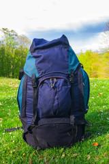 closeup touristic rucksack