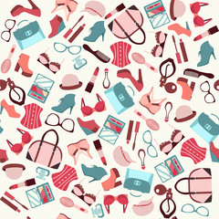 Beauty and accessories  background  - Illustration