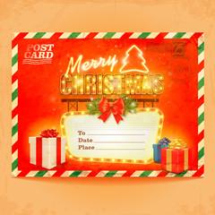 christmas postcard gift