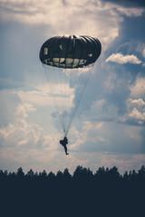 Parachutist in the war