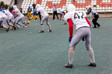 american football player standing