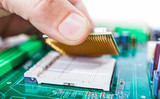 assembles computer parts
