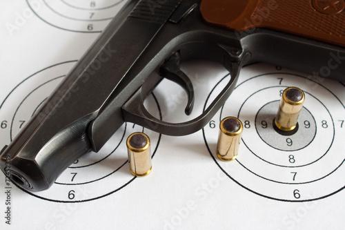 Deurstickers Vechtsport Пистолет, оружие
