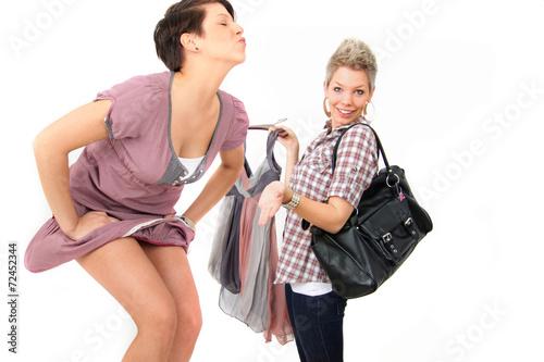 canvas print picture zusammen shoppen gehen