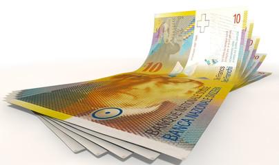 Franc Bank Notes Spread