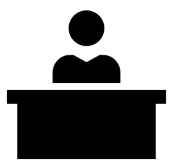 Man at desk icon