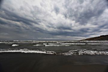 texture of a storm at sea gray waves