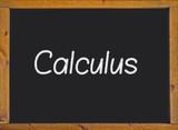 Calculus written on a blackboard poster