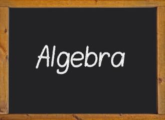 Algebra written on a blackboard