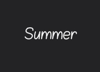 Summer written on a blackboard