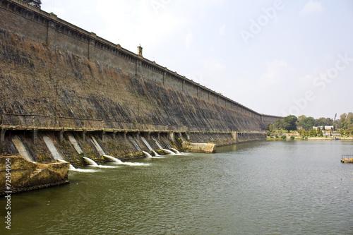 Spoed canvasdoek 2cm dik Dam Krishnarajsagar dam