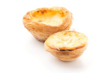 egg tart isolated on white background