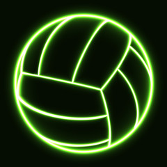glowing volleyball ball