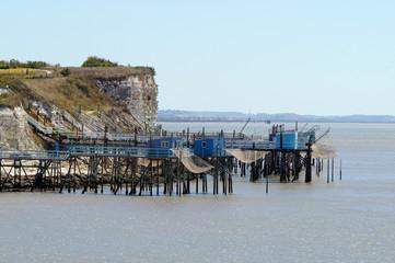 Pontons de pêche au carrelet - Talmont-sur-Gironde
