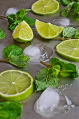 Mint, lime, ice