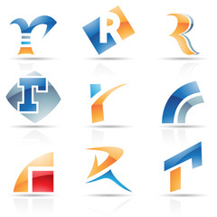 Glossy Icons for letter R