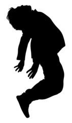 Falling Man Silhouette