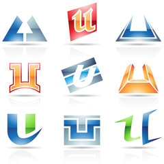 Glossy Icons for letter U