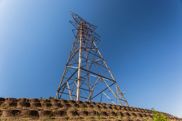 Electrical Tower Blue Bare Stripped