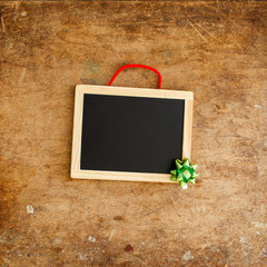 wooden frame and christmas decoration