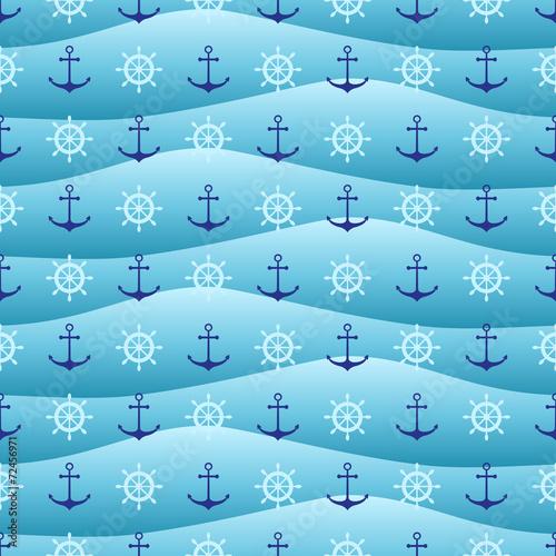 Seamless nautical pattern - 72456971