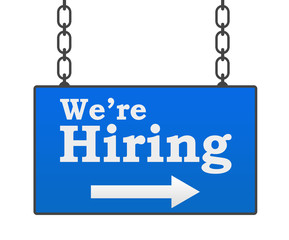 We Are Hiring Hanged Signboard