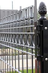 Metal fence detail.