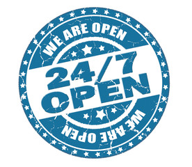 24/7 open stamp