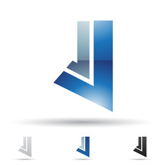 Abstract icon for letter J