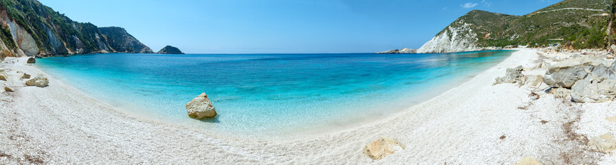 Petani Beach summer panorama (Kefalonia, Greece)