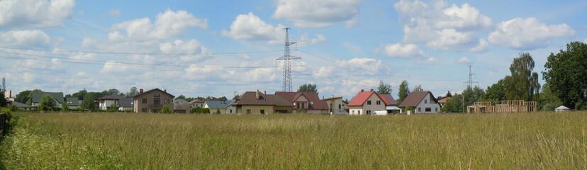Panoramic view of quiet village