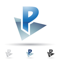 Abstract icon for letter P