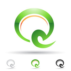 Abstract icon for letter Q