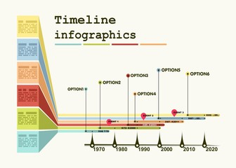 Timeline Infographic with diagrams and graphics
