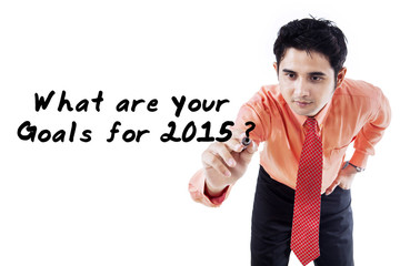 Businessman ask the goals in 2015