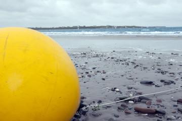 large yellow buoy
