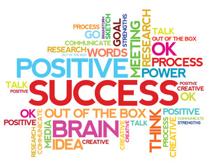 Success concept related words in tag cloud