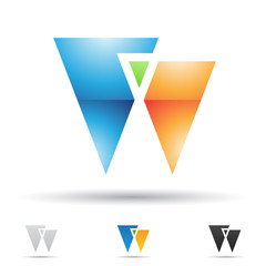Abstract icon for letter W