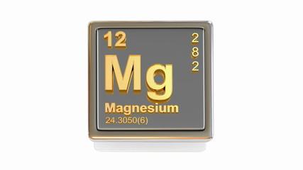 Chemical element. Mg. 3d