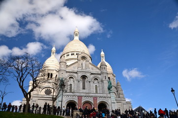 Sacre Ceure de Montmartre cathedral in Paris