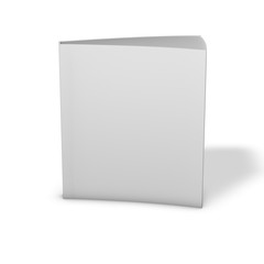 Textbook standing, 3d render with shadow, isolated on white.