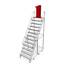 career and winning abstract concept with ladder isolated