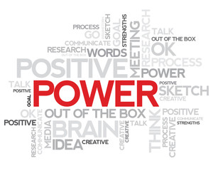 Power Word cloud:Words relating and associated with power