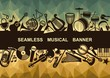 Seamless musical banner - 72462591